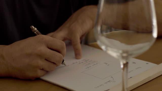vídeos y material grabado en eventos de stock de hacer notas en un restaurante - periodista