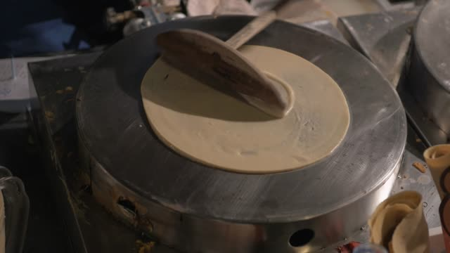 making of crepes pancakes - crepe stock videos & royalty-free footage