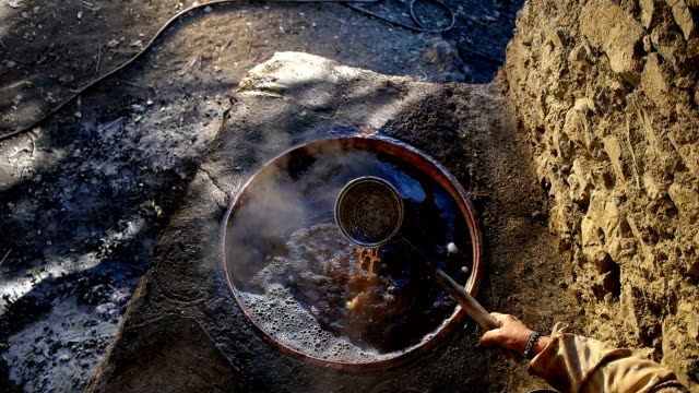 Making Of Molasses In Traditional Way