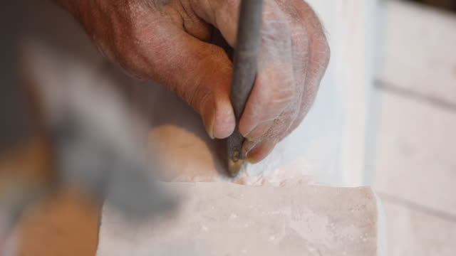 making perfect sculpture - stone object stock videos & royalty-free footage