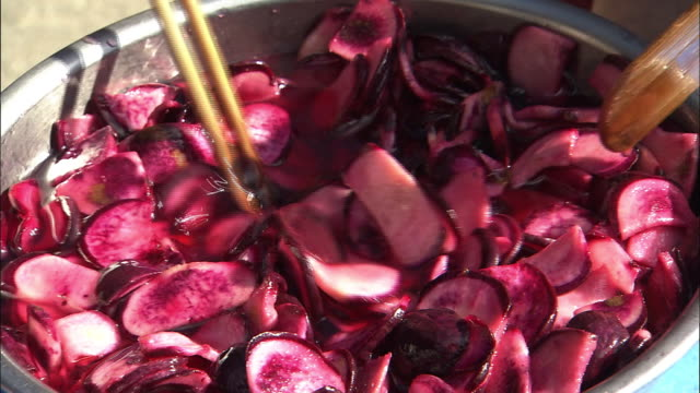 Making Pickled Turnips Of Iyohikabu, Ehime, Japan