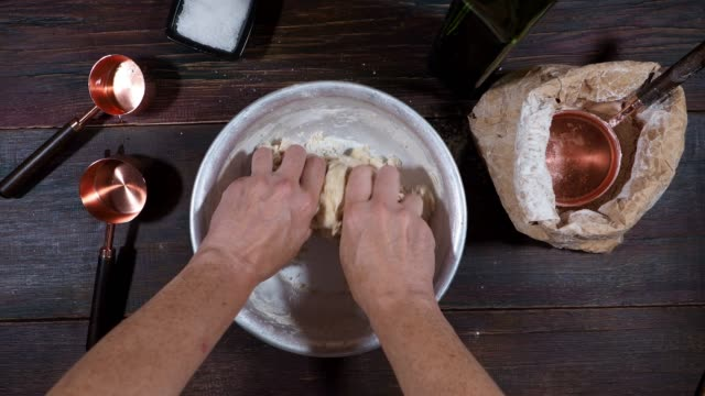 making pizza dough - yeast stock videos & royalty-free footage