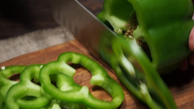making pizza - green bell pepper stock videos & royalty-free footage