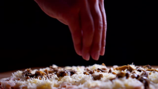 making pizza - sprinkling stock videos & royalty-free footage