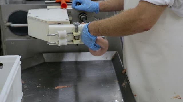 ソーセージ、工場で予約 - ホットドッグ点の映像素材/bロール
