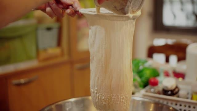 making soy milk. - soy milk stock videos & royalty-free footage