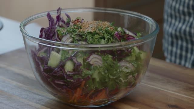 making summer slaw - coleslaw stock videos & royalty-free footage