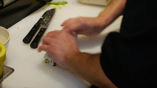 Making Sushi Food Roll