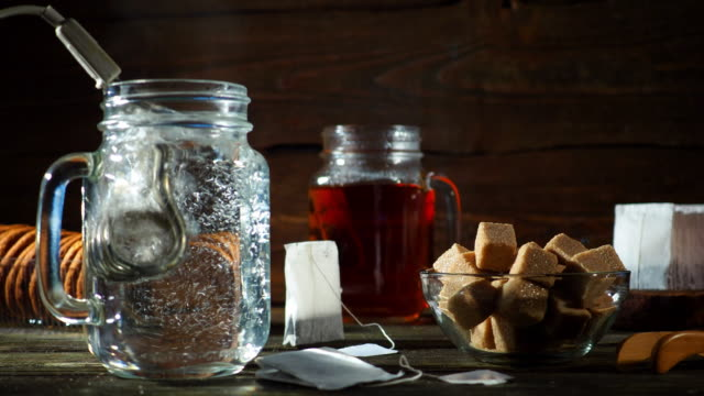 making tea - sugar cube stock videos & royalty-free footage