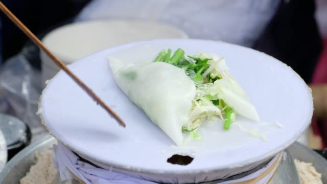 making thai noodle street food - thai food stock videos and b-roll footage