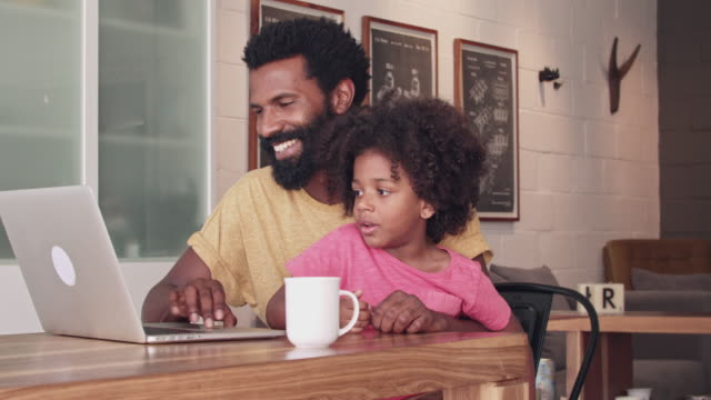 Making time online with his son