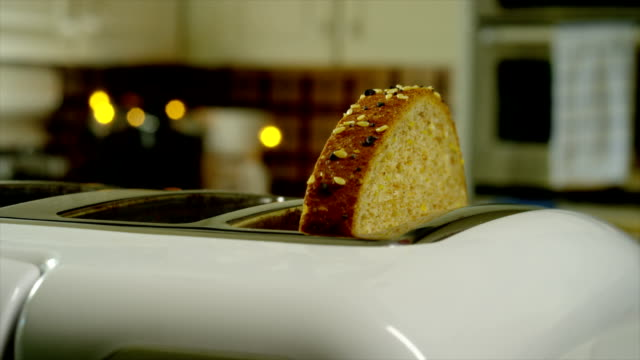 making toast - toaster appliance stock videos & royalty-free footage