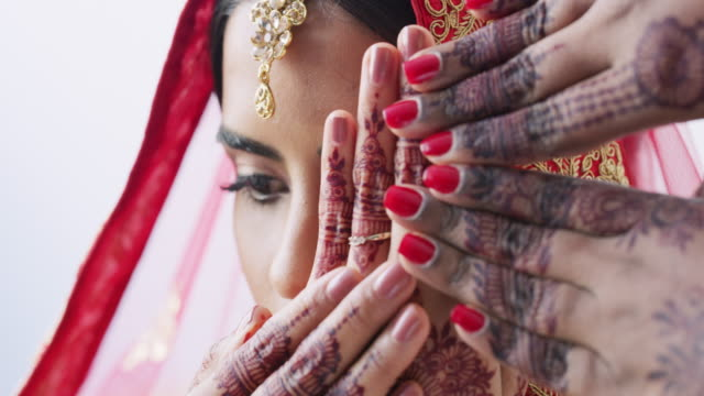 making tradition part of my big day - indian subcontinent ethnicity stock videos & royalty-free footage