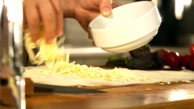 making turkish gozleme with cheese - close up - table knife stock videos & royalty-free footage