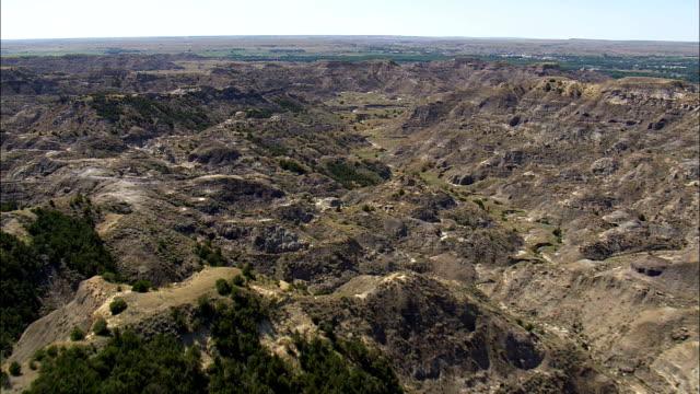 Makoshika State Park  - Aerial View - Montana, Dawson County, United States