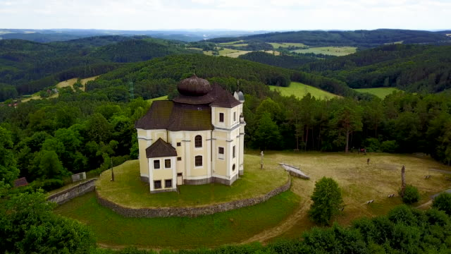 makova church. bohemia, czech republic. - eastern european culture stock videos and b-roll footage