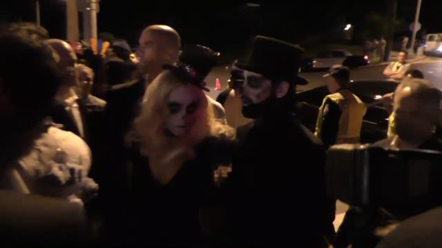 Maksim Chmerkovskiy and Peta Murgatroyd at the Casamigos Tequila 'Dia De Los Muertos' Halloween party in Beverly Hills at Celebrity Sightings in Los...