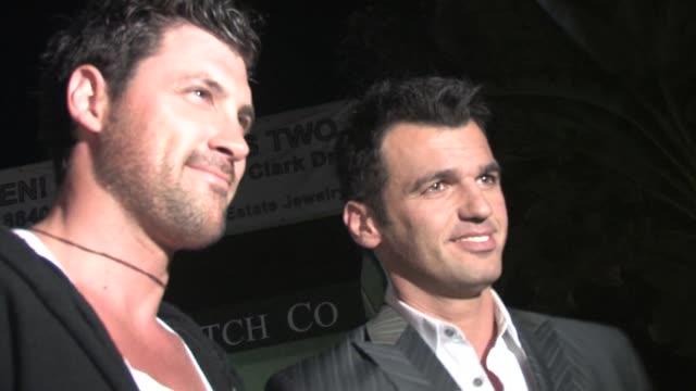 Maksim Chmerkovskiy and Tony Dovolani at Il Piccolino on November 09 2010 in Los Angeles California