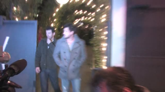 Maksim Chmerkovskiy Tony Dovolani at STK in West Hollywood at the Celebrity Sightings in Los Angeles at Los Angeles CA
