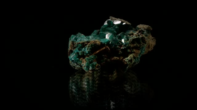 Malachite turning on black