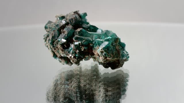 Malachite turning on white