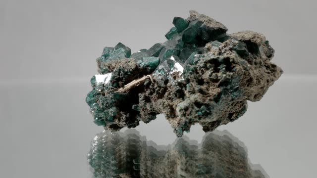 malachite turning on white - mineral stock videos & royalty-free footage