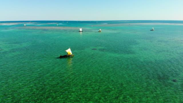 マダガスカルの漁船 - マダガスカル点の映像素材/bロール