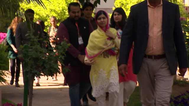 Malala Yousafzai in Pakistan for the first time since she was attacked by the Taliban