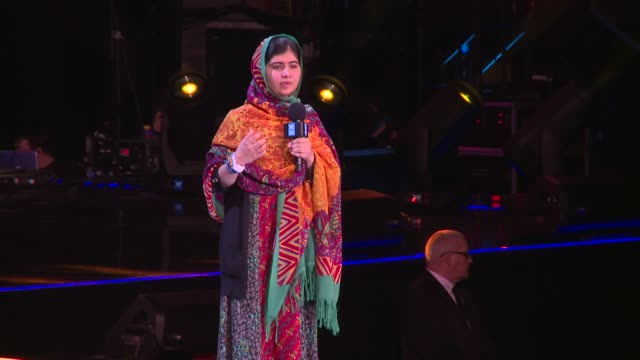 malala yousafzai on her beliefs and dreams at we day uk at wembley arena on march 7, 2014 in london, england. - wembley arena stock videos & royalty-free footage