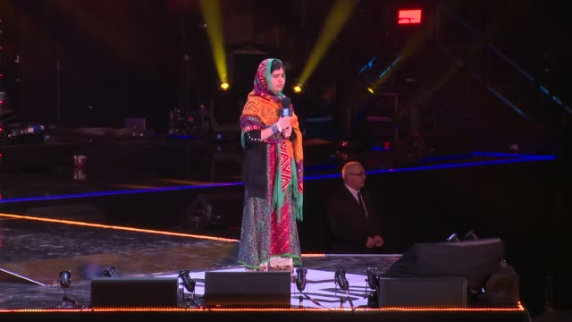 malala yousafzai on who she is and mistakes at we day uk at wembley arena on march 7, 2014 in london, england. - wembley arena stock videos & royalty-free footage