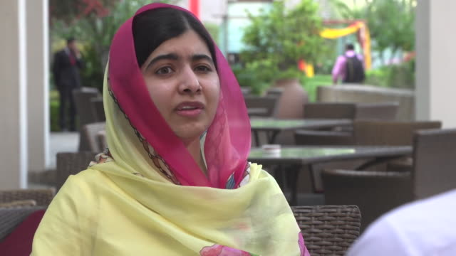 Malala Yousafzai saying 99% of Pakistan's 200m population support her cause for women's education