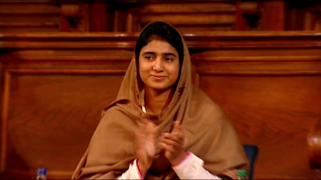 malala yousafzai speech at edinburgh university; brown asking yousafzai question sot malala yousafzai speech sot - i am here for the first time in... - only girls stock videos & royalty-free footage