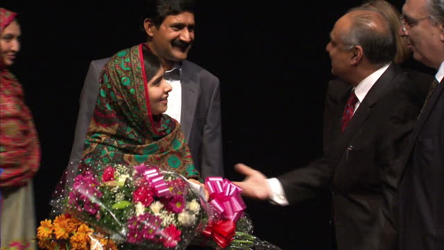 malala yousafzai wins nobel prize - 2014 stock-videos und b-roll-filmmaterial