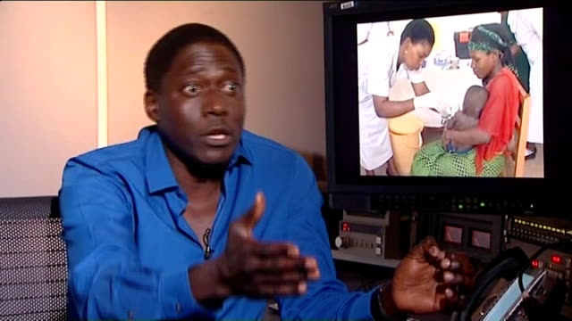 malaria vaccine passes early trials england int dr allan pamba interview sot maybe four children will turn up all at same time with malaria / health... - double chance stock videos & royalty-free footage