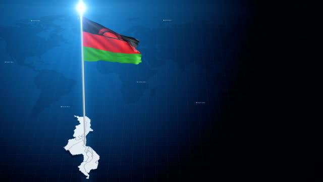 malawi 4k flag - malawi stock videos & royalty-free footage