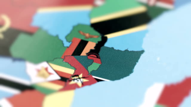 malawi borders with national flag on world map - retrovirus stock videos & royalty-free footage