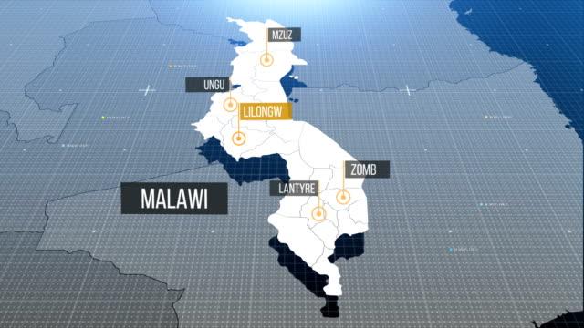 malawi map - malawi stock videos & royalty-free footage