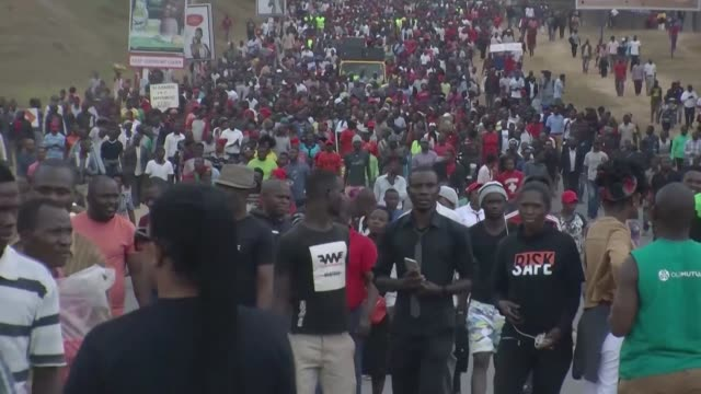 malawian opposition supporters take to the streets of lilongwe once more to put pressure on malawi electoral commission chairperson jane ansah to... - chairperson stock videos & royalty-free footage