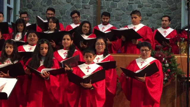malayalee canadian catholic choir members perform christmas carols during a special church program in toronto, ontario, canada, on december 08, 2018.... - carol singer stock videos & royalty-free footage