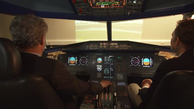 Search for the plane is formally suspended ENGLAND Reporter in flight simulator with Captain Tilmann Gabriel Captain Tilmann Gabriel interview SOT