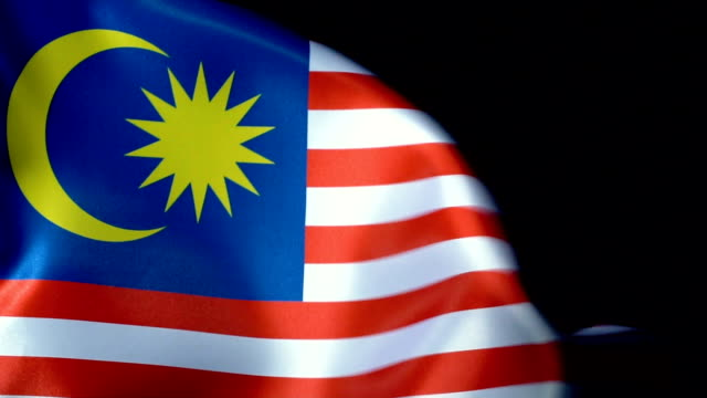 malaysia flag flapping - brunei stock videos & royalty-free footage