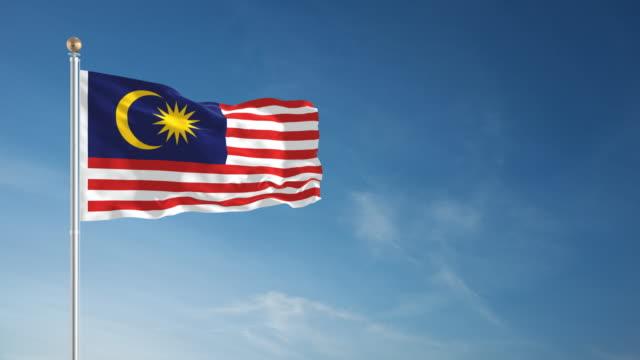 4K Malaysia Flag - Loopable