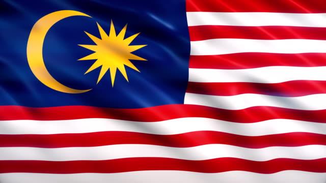 malaysia-flagge - malaysia stock-videos und b-roll-filmmaterial