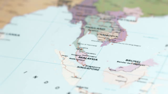 asia malaysia on world map - malaysia stock videos & royalty-free footage