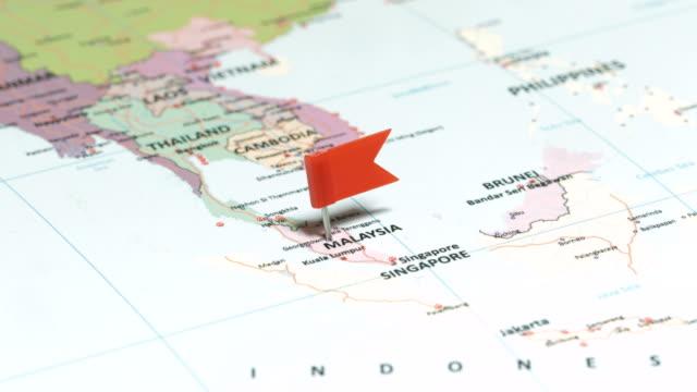 Malaysia with pin