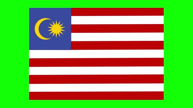 stockvideo's en b-roll-footage met maleisische vlaganimatie op groene het schermachtergrond, chromasleutel, loopable - politiek en staatsbestuur