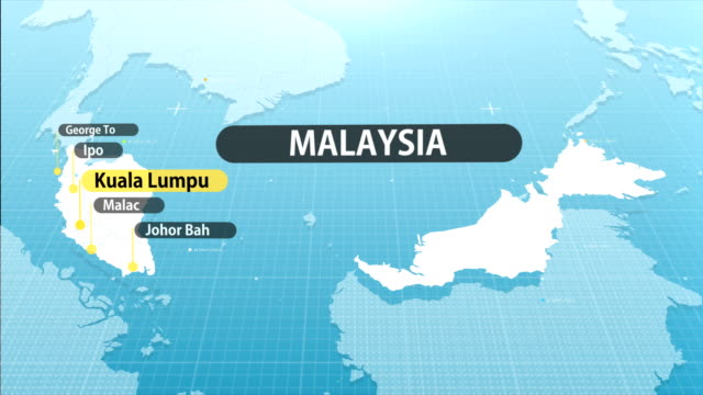 malaysian map - cultura malesiana video stock e b–roll