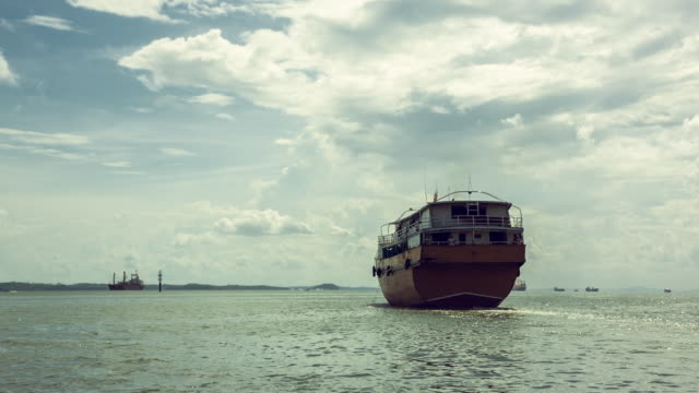 malaysian sabah boat - kota kinabalu stock videos and b-roll footage