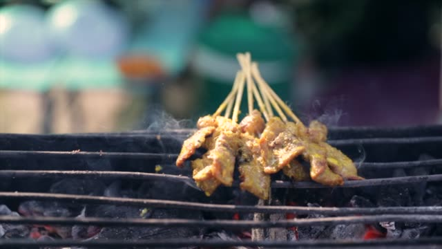 malaysian satay footage - peanut food stock videos & royalty-free footage