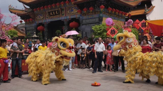 vidéos et rushes de malaysian-chinese gather inside the kwan ying temple during lunar new year of the rat celebrations outside kuala lumpur on january 25, 2020 in kuala... - malaysian culture